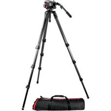 Manfrotto 504HD Head w/536 3-Stage Carbon Fiber Tripod System 504HD,536K