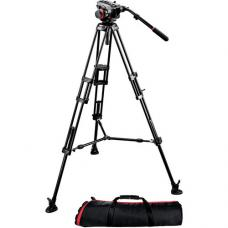 Manfrotto 504HD Head w/546B 2-Stage Aluminum Tripod System 504HD,546BK