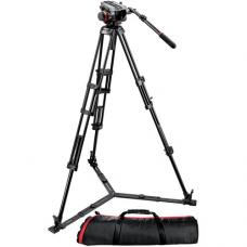 Manfrotto 504HD Head w/546GB 2-Stage Aluminum Tripod System 504HD,546GBK