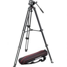 Manfrotto MVH500A Fluid Drag Video Head with MVT502AM Tripod and Carry Bag MVK500AM