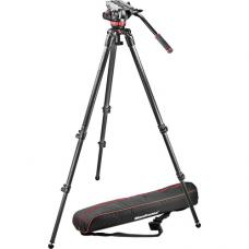 Manfrotto MVH502A Fluid Head and 535 CF Tripod System with Carrying Bag MVK502C-1