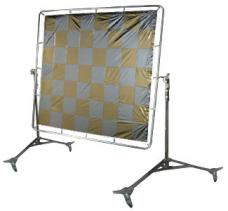 Silver/Gold Checkerboard 6' x 6'