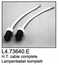 L4.73640.E 2 pcs HT-cables (ignitor to lamp holder)  Compact 2500-4000  Arrisun 40/25
