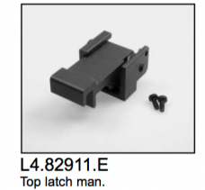 L4.82911.E Comfort top latch (new grey coating)  Compact 1200-12000  T12