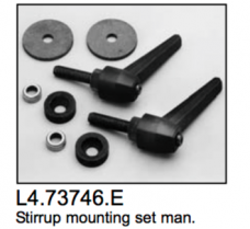 L4.73746.E Stirrup mounting set  Compact 1200-4000  Arrisun 40/25 to ser.no. 3539  Arrisun 60 to ser.no. 843  ARRI X12 to ser.no. 250  ARRI X40/25 to