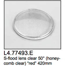 L4.77493.E Super-flood lens  honeycomb  50?  red  420mm  Arrisun 60
