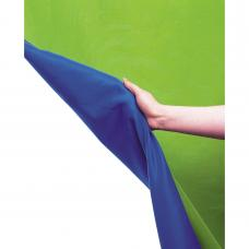 Chromakey Curtain Reversible 3 x 3.5m Blue/Green  LL LC5787