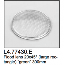 L4.77430.E Flood lens  large rectangle  20x45?  green  300mm  Arrisun 40/25