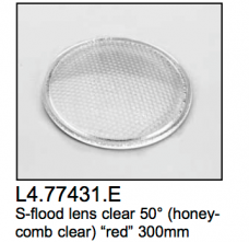 L4.77431.E Super-flood lens  honeycomb  50?  red  300mm  Arrisun 40/25