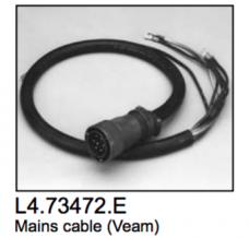 L4.73472.E Mains cable (Veam)  Compact 1200  Compact 1200 Theatre  Arrisun 12 plus