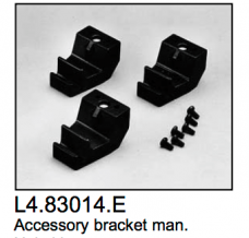 L4.83014.E Accessory brackets manual (3 pcs)  ARRI 2000-5000  Studio 1000-5000  Compact 1200-6000  Arrisun 12-60  Studio 250 Ceramic