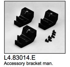 L4.83014.E Accessory brackets manual (3 pcs)  ARRI 2000-5000  Studio 1000-5000  Compact 1200-6000  Arrisun 12-60  Studio 250 Ceramic