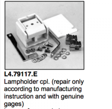 L4.79117.E Lamp holder cpl.  Arrisun 120