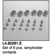 L4.82291.E Set of 6 pcs lamp holder contacts with M8-threat (G38) Arrisun 60-120  X60  Compact 6000-12000