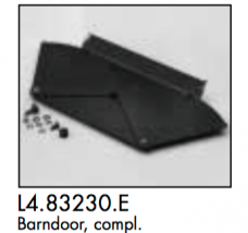 L4.83230.E 1 pcs barndoor black (only 1 side!) with mounting Parts  Minicyc/flood 1000