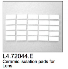 L4.72044.E Ceramic insulating pads 12x28mm (25 pcs)