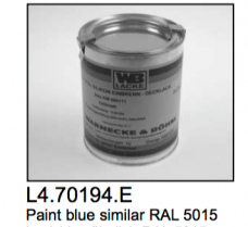 L4.70194.E 1 kg paint studio blue (high temperature resisting)  similar RAL 5015  Attention: Dangerous goods! Please check shipping details! If possib
