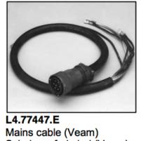 L4.77447.E Mains cable (Veam)  Arrisun 40/25